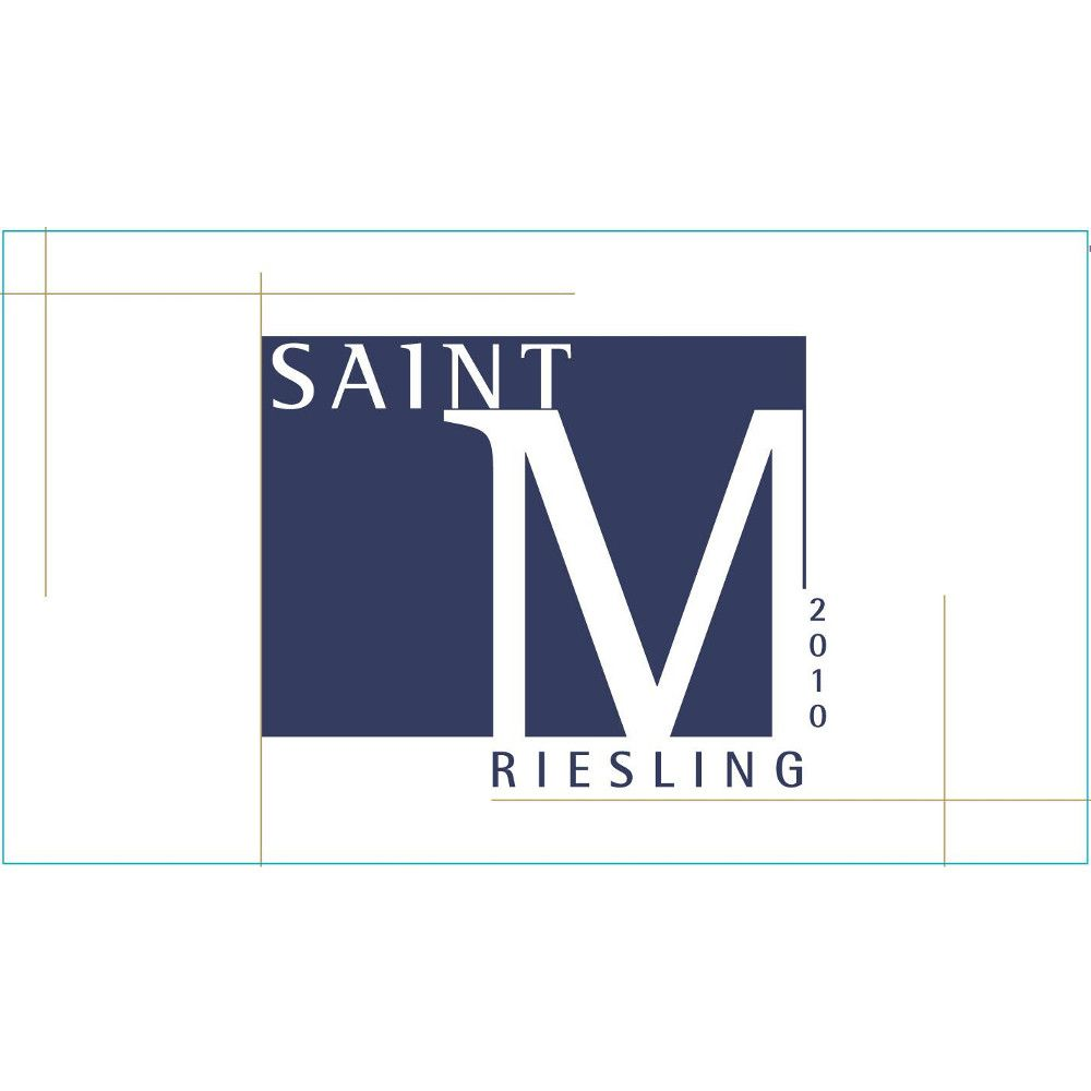 Saint M Riesling 2010 Front Label