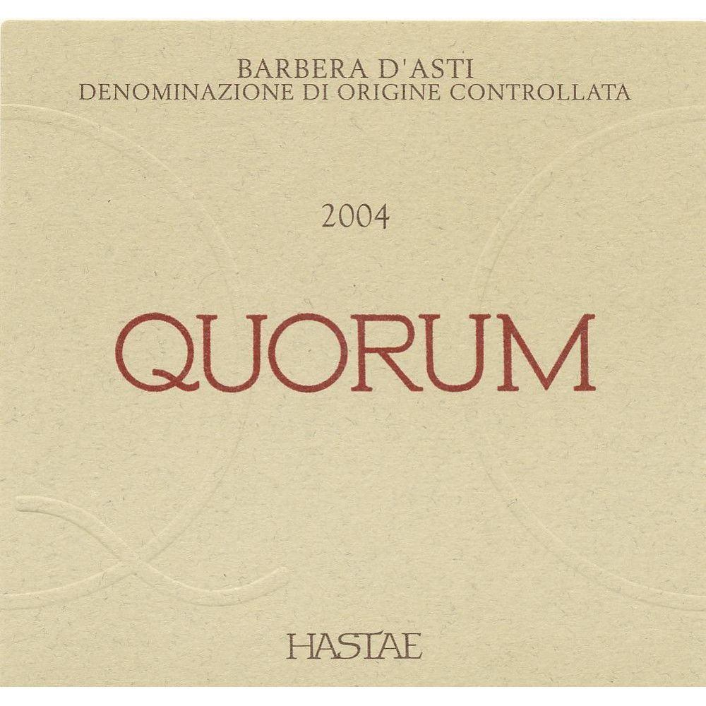 Quorum Barbera d'Asti 2004 Front Label