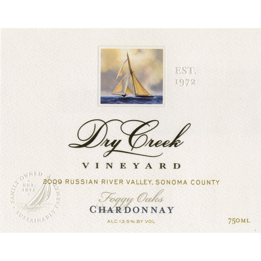 Dry Creek Vineyard Foggy Oaks Russian River Valley Chardonnay 2009 Front Label