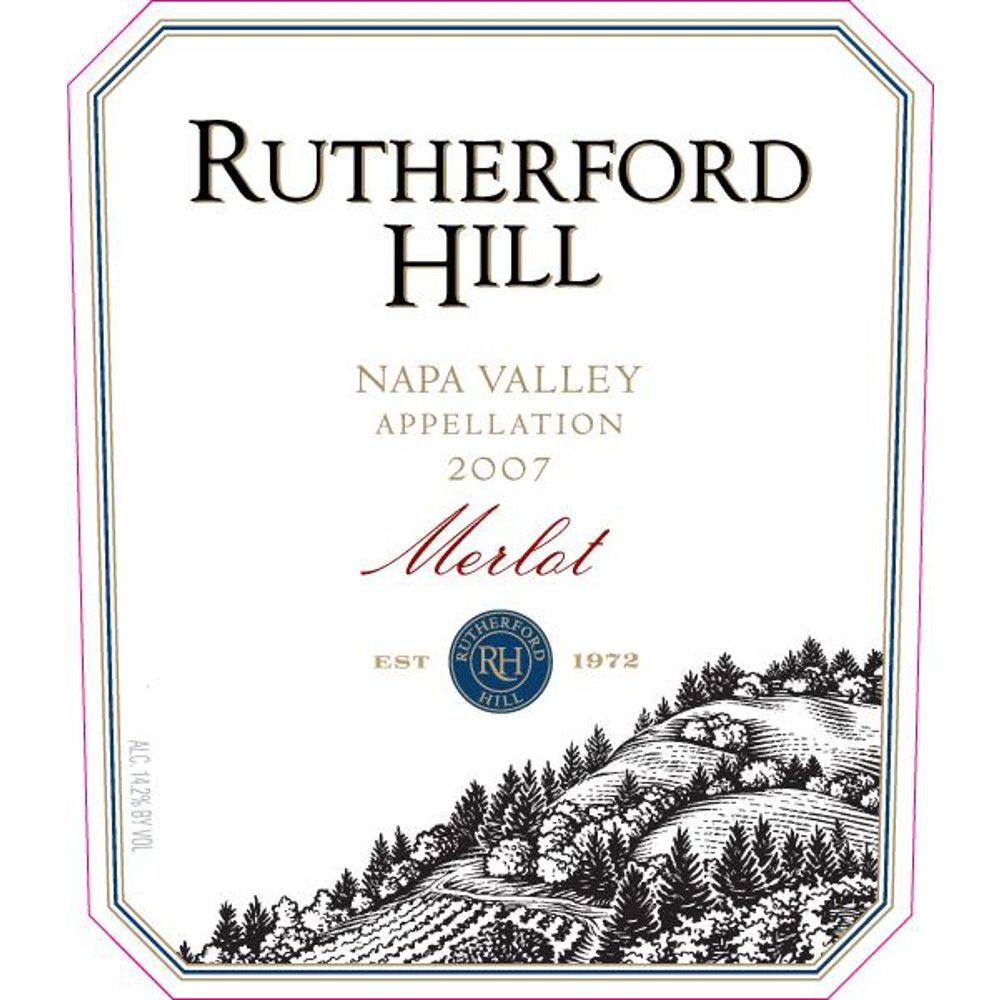 Rutherford Hill Merlot 2007 Front Label
