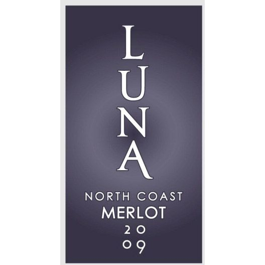 Luna Vineyards Merlot 2009 Front Label