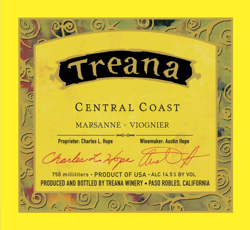 Treana White 2009 Front Label