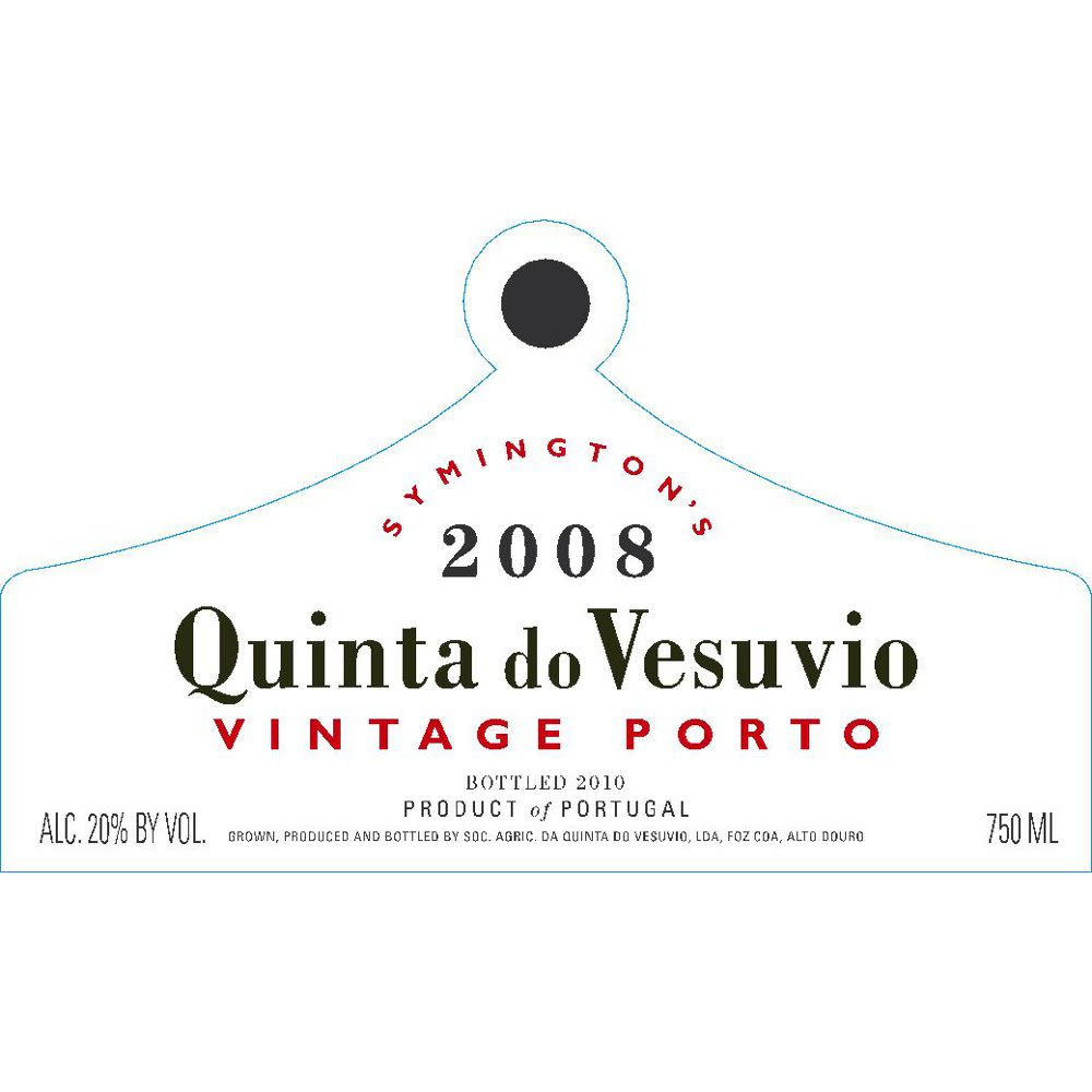 Quinta do Vesuvio Vintage Port 2008 Front Label