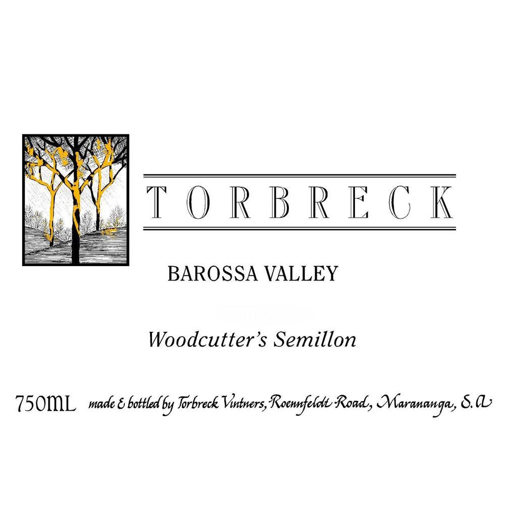 Torbreck Woodcutters Shiraz 2010 Front Label