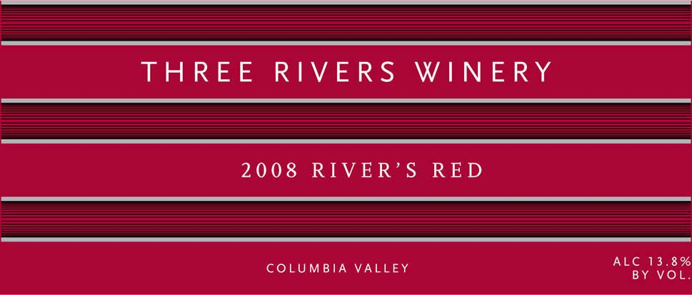 Three Rivers River's Red Blend 2008 Front Label