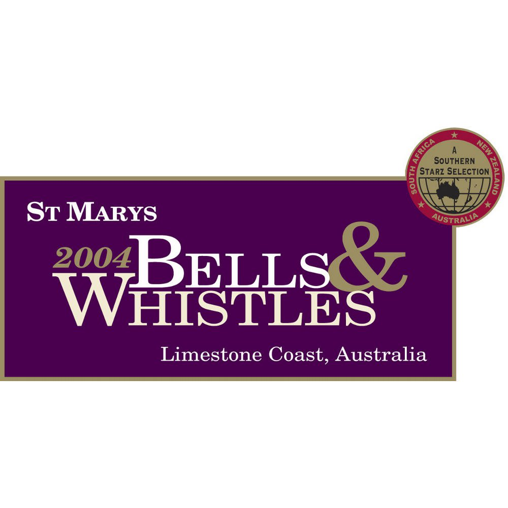 St. Mary's Bells & Whistles Red 2004 Front Label