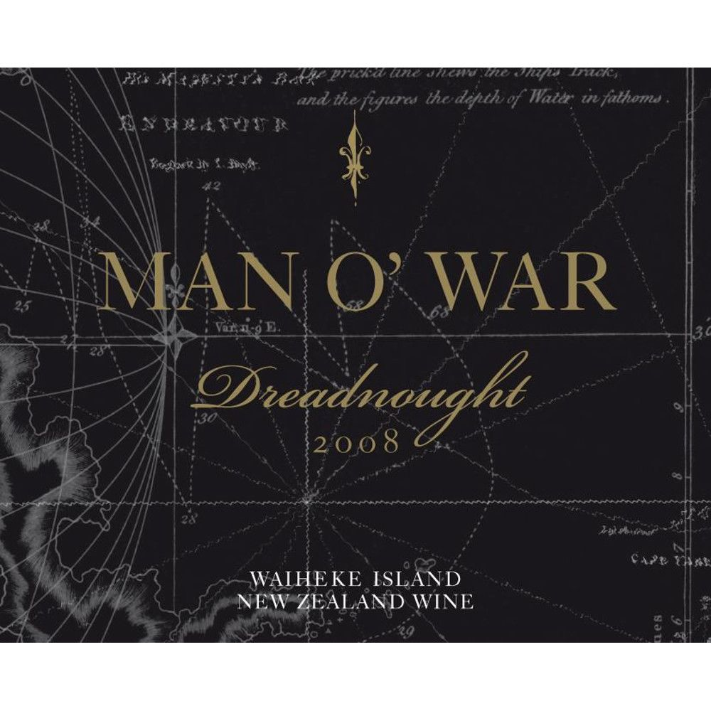 Man O' War Dreadnought Syrah 2008 Front Label