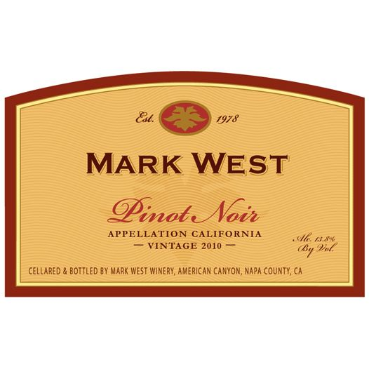 Mark West California Pinot Noir 2010 Front Label