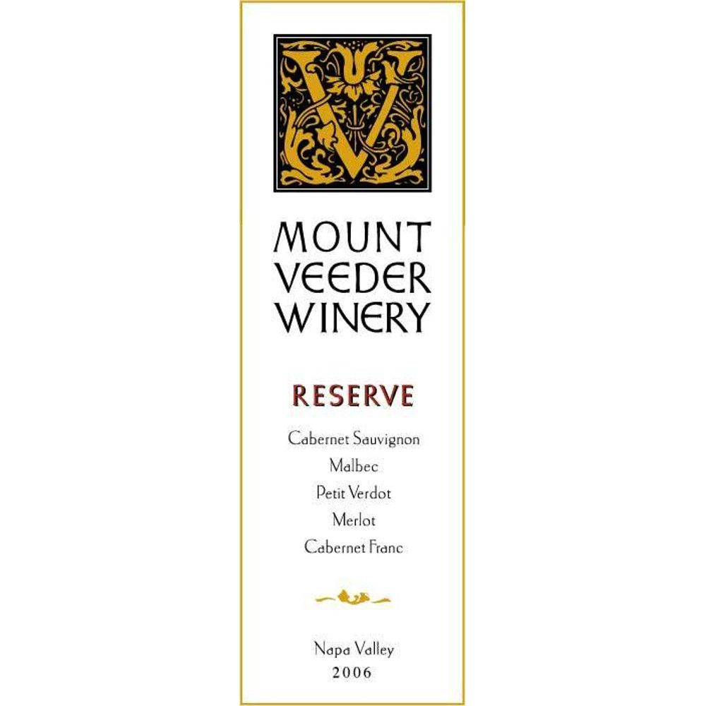 Mount Veeder Winery Reserve Red 2006 Front Label
