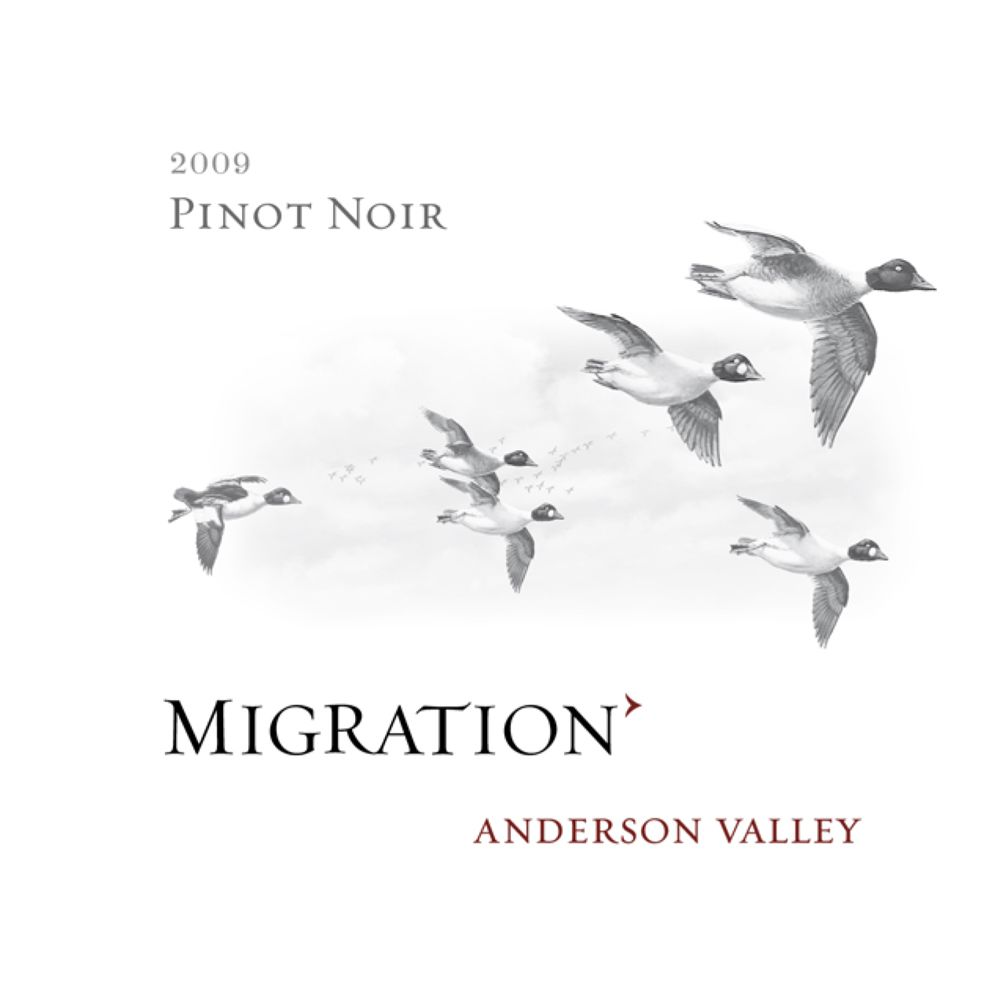 Migration Anderson Valley Pinot Noir 2009 Front Label