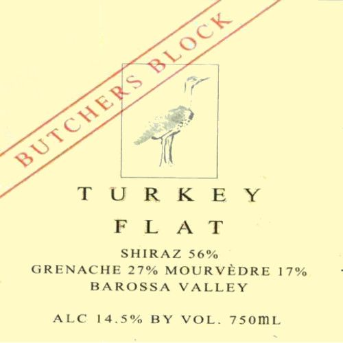Turkey Flat Butchers Block Red 2007 Front Label