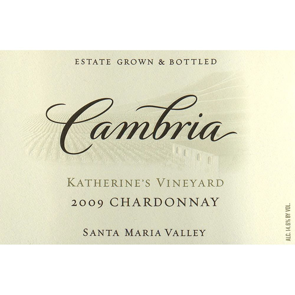 Cambria Katherine's Vineyard Chardonnay 2009 Front Label