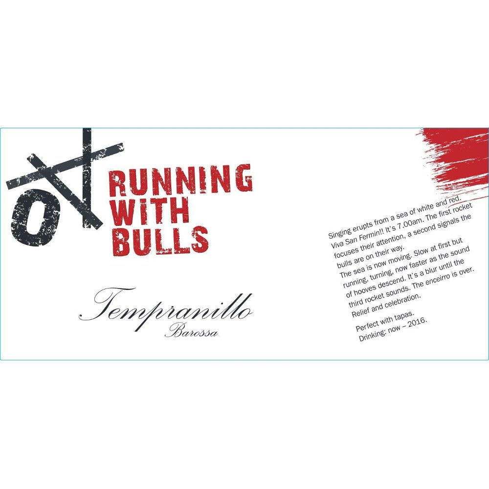 Running With Bulls Barossa Tempranillo 2010 Front Label