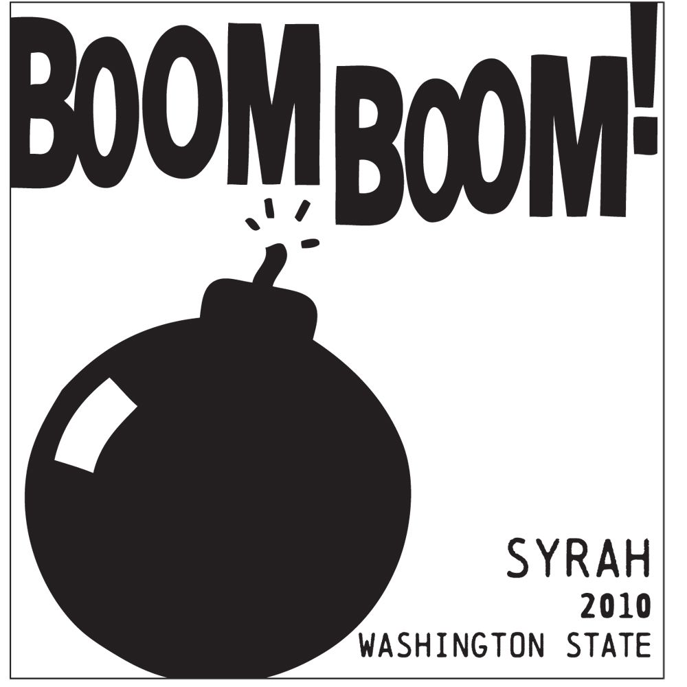 Charles Smith Wines Boom Boom Syrah 2010 Front Label