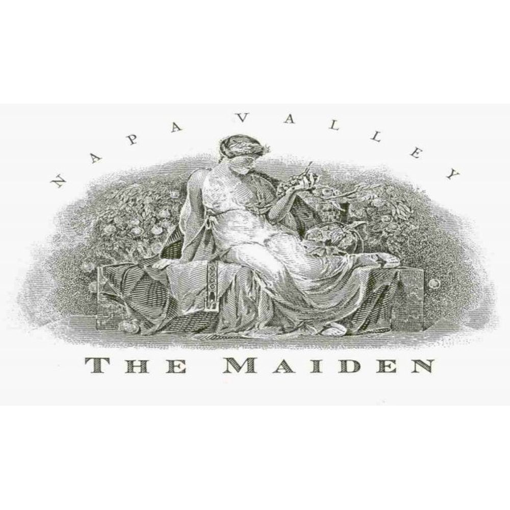 Harlan The Maiden (stained labels) 2007 Front Label