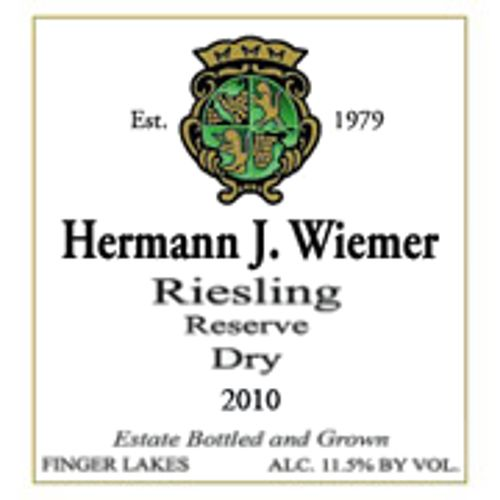 Hermann J. Wiemer Dry Riesling Reserve 2010 Front Label