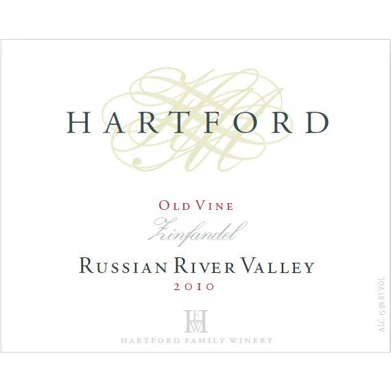 Hartford Russian River Old Vine Zinfandel 2010 Front Label