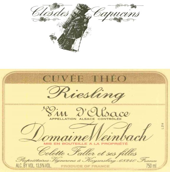 Domaine Weinbach Cuvee Theo Riesling 2010 Front Label