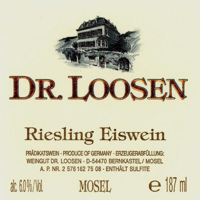 Dr. Loosen Eiswein Riesling (187ML) 2008 Front Label