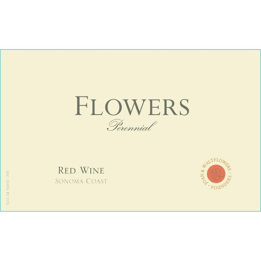 Flowers Perennial Red Blend 2009 Front Label