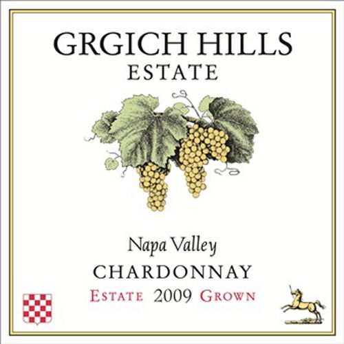 Grgich Hills Estate Chardonnay 2009 Front Label