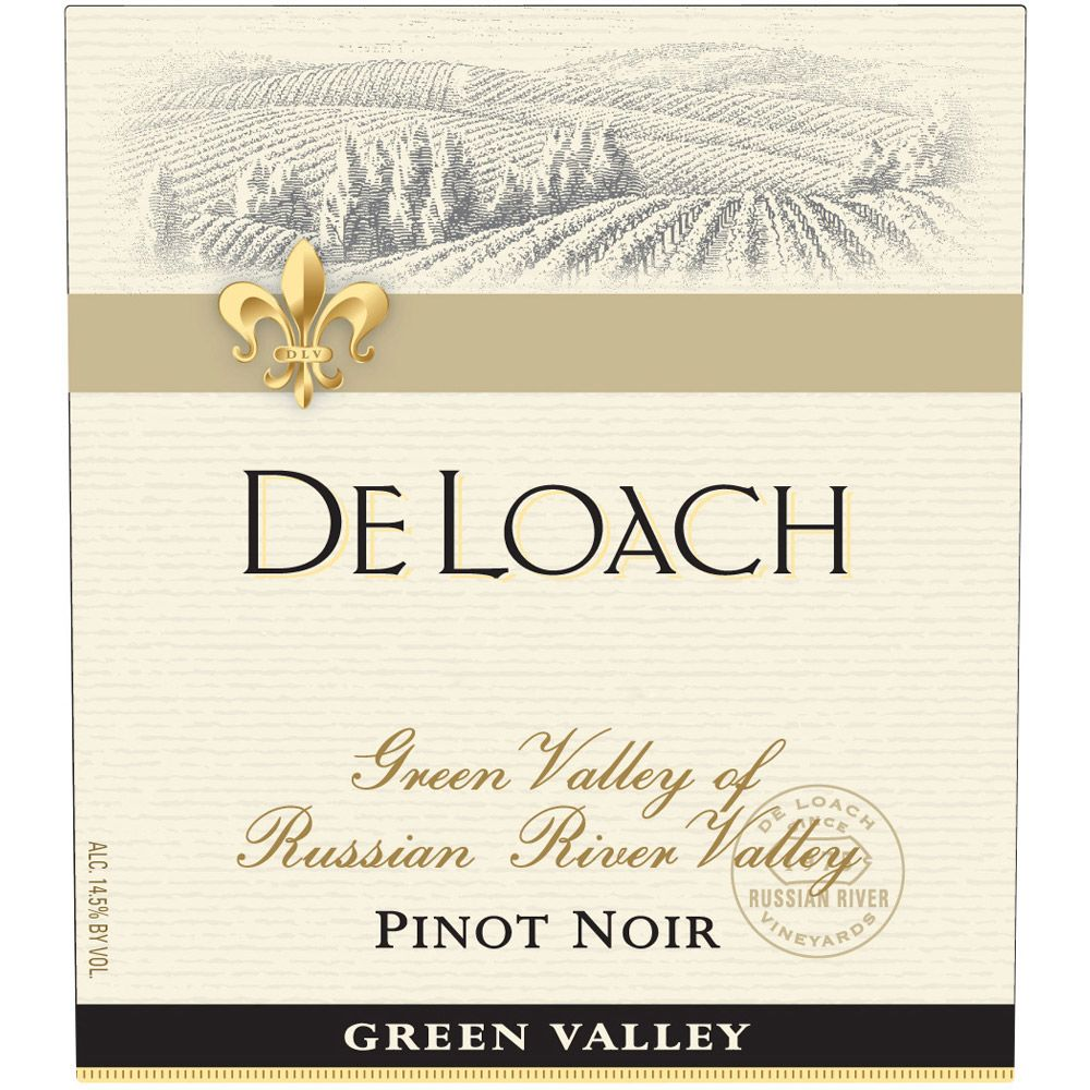 DeLoach Green Valley Pinot Noir 2009 Front Label