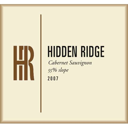 Hidden Ridge 55% Slope Cabernet Sauvignon 2007 Front Label