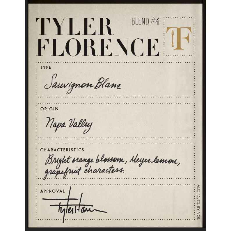 Tyler Florence Sauvignon Blanc 2010 Front Label