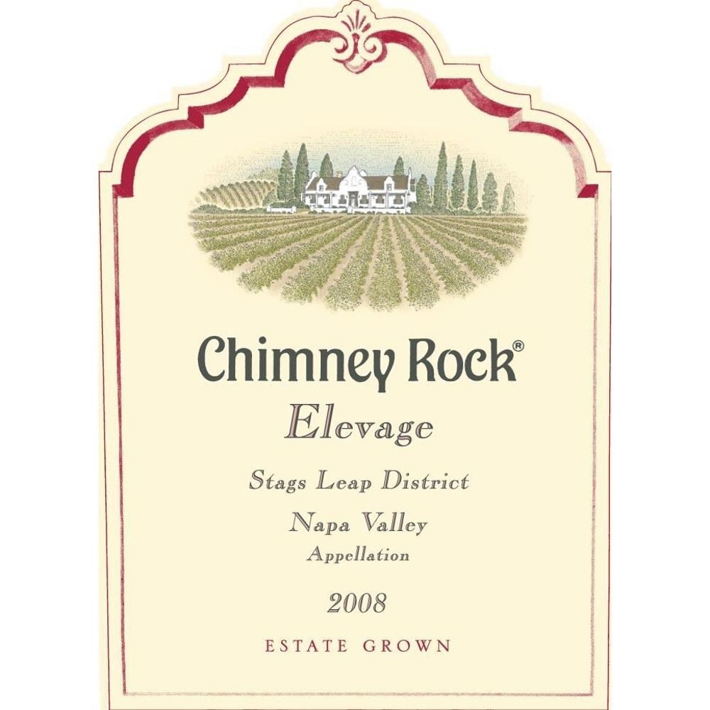 Chimney Rock Elevage Red 2008 Front Label