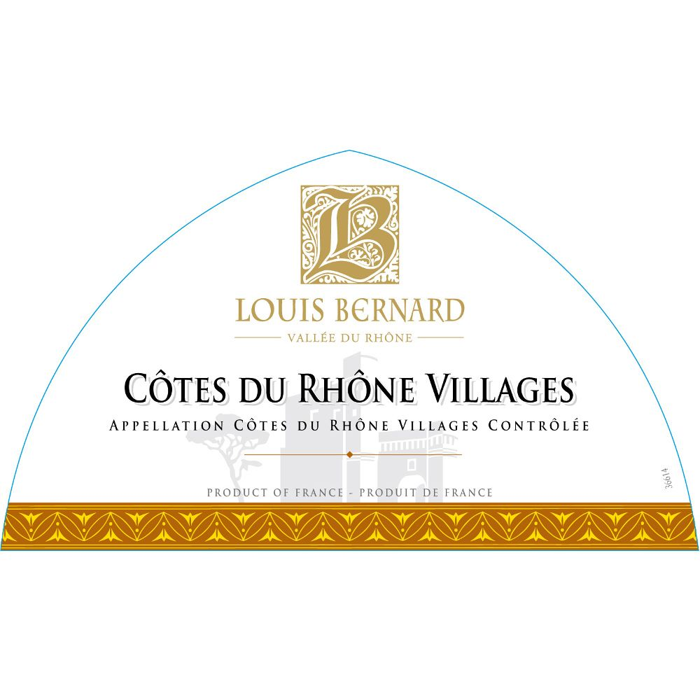 Louis Bernard Cotes du Rhone Villages 2011 Front Label