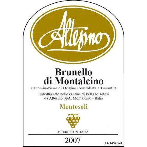 Altesino Brunello di Montalcino 2007 Front Label