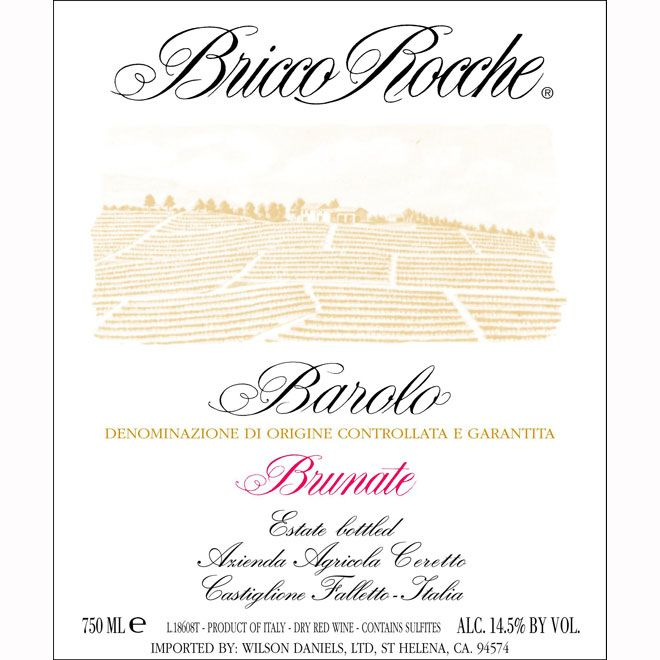 Ceretto Brunate Barolo 2007 Front Label