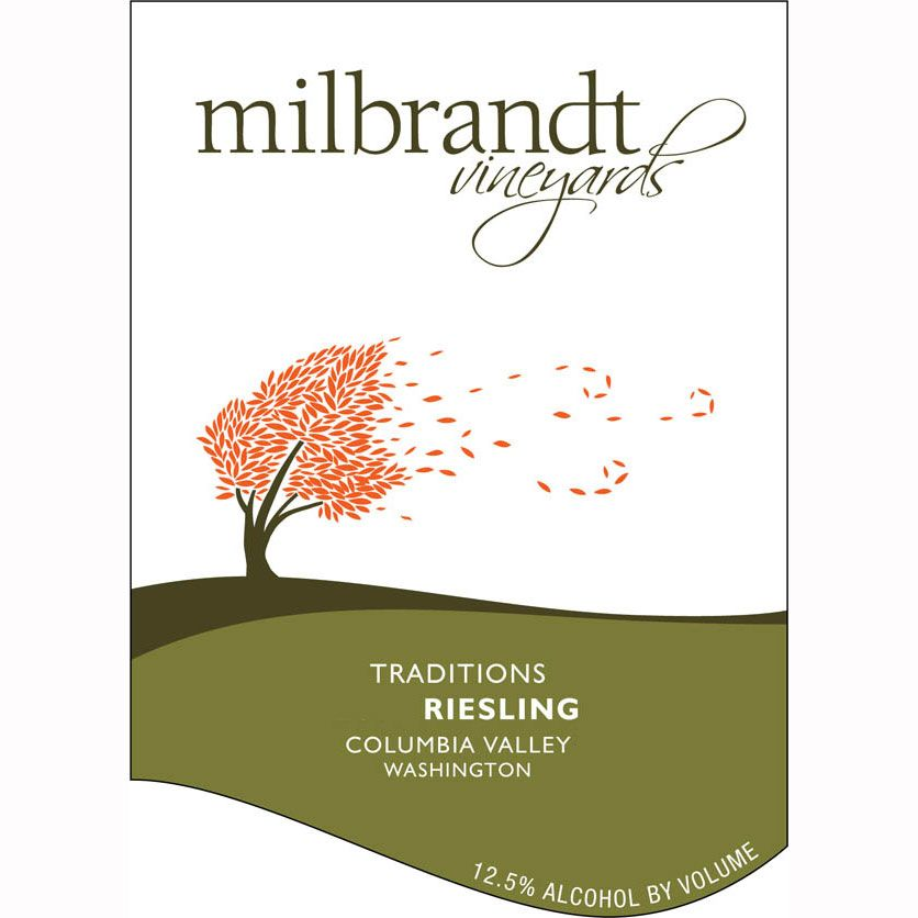 Milbrandt Traditions Riesling 2010 Front Label