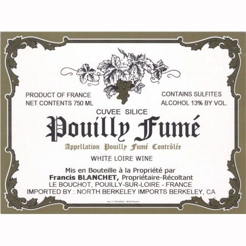 Domaine Francis Blanchet Pouilly Fume Cuvee Silice 2010 Front Label