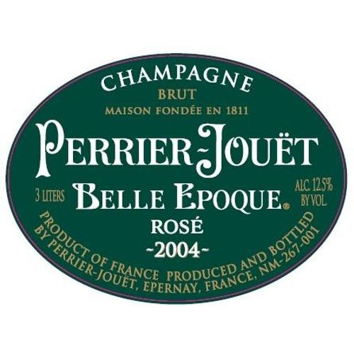 Perrier-Jouet Rose Belle Epoque 2004 Front Label