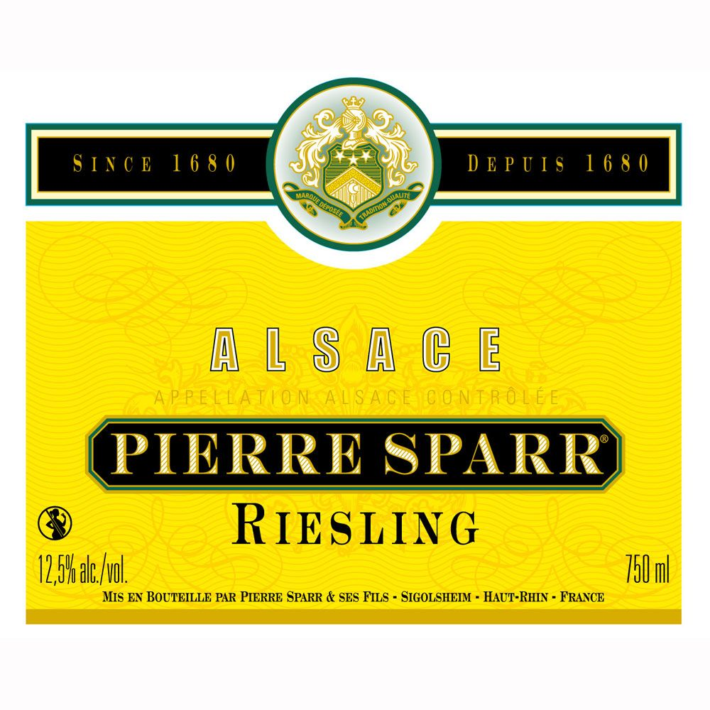 Pierre Sparr Riesling 2010 Front Label