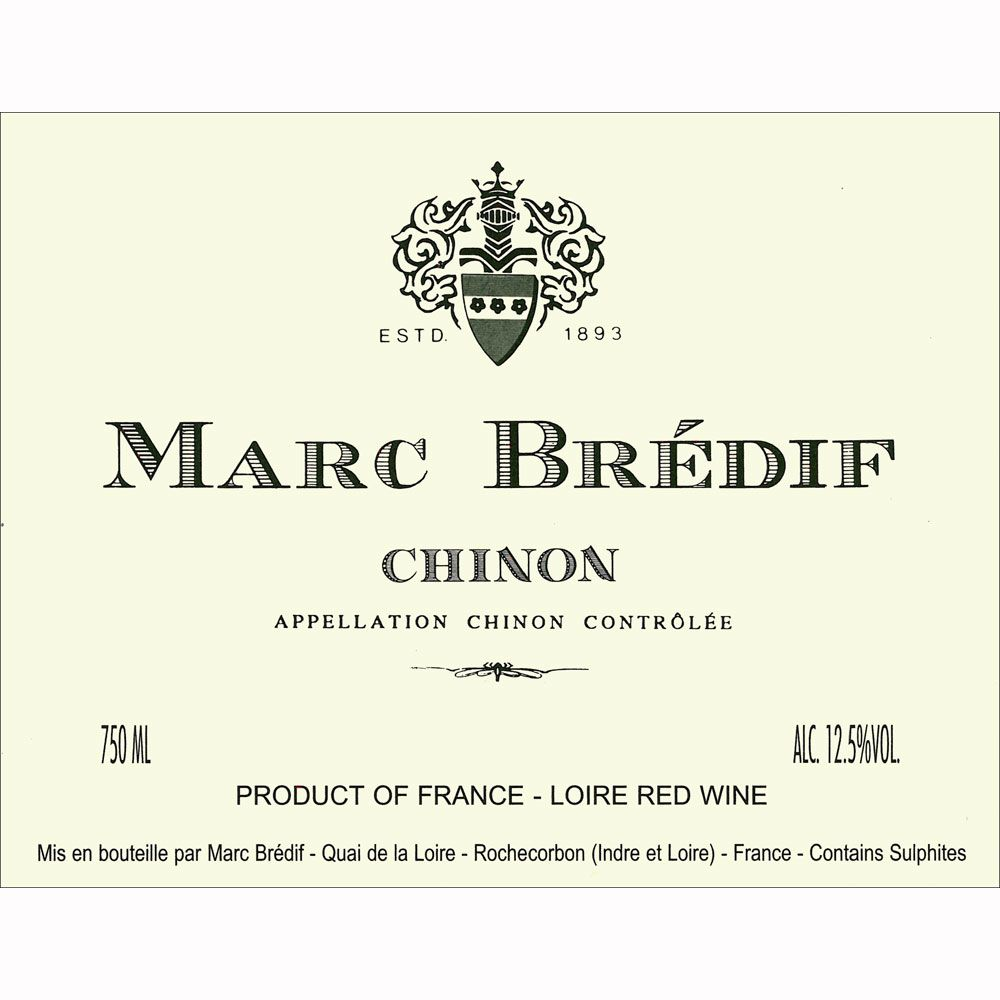 Marc Bredif Chinon 2010 Front Label