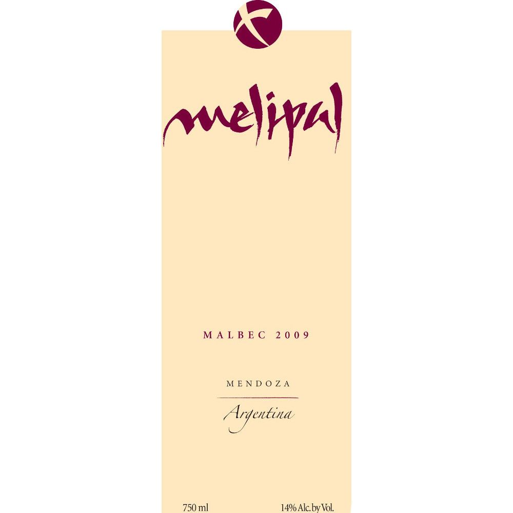 Melipal Malbec 2009 Front Label