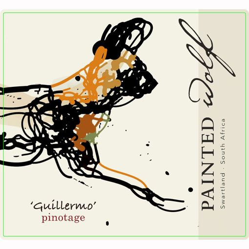 Painted Wolf Guillermo Pinotage 2010 Front Label
