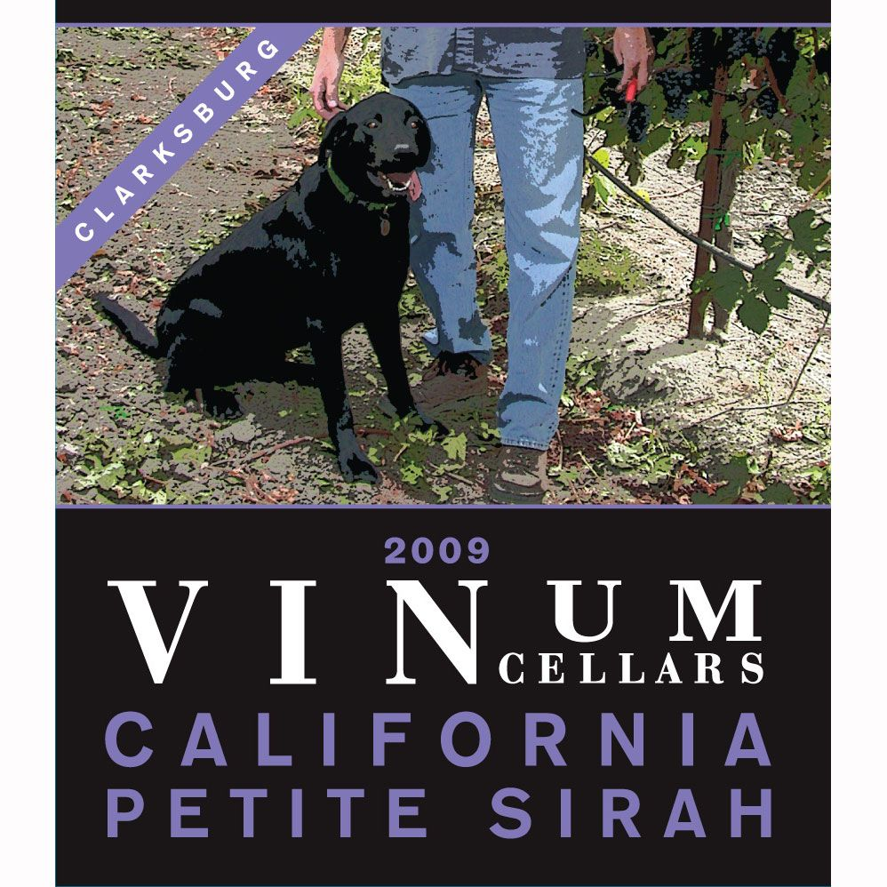 Vinum Cellars Petite Sirah 2009 Front Label