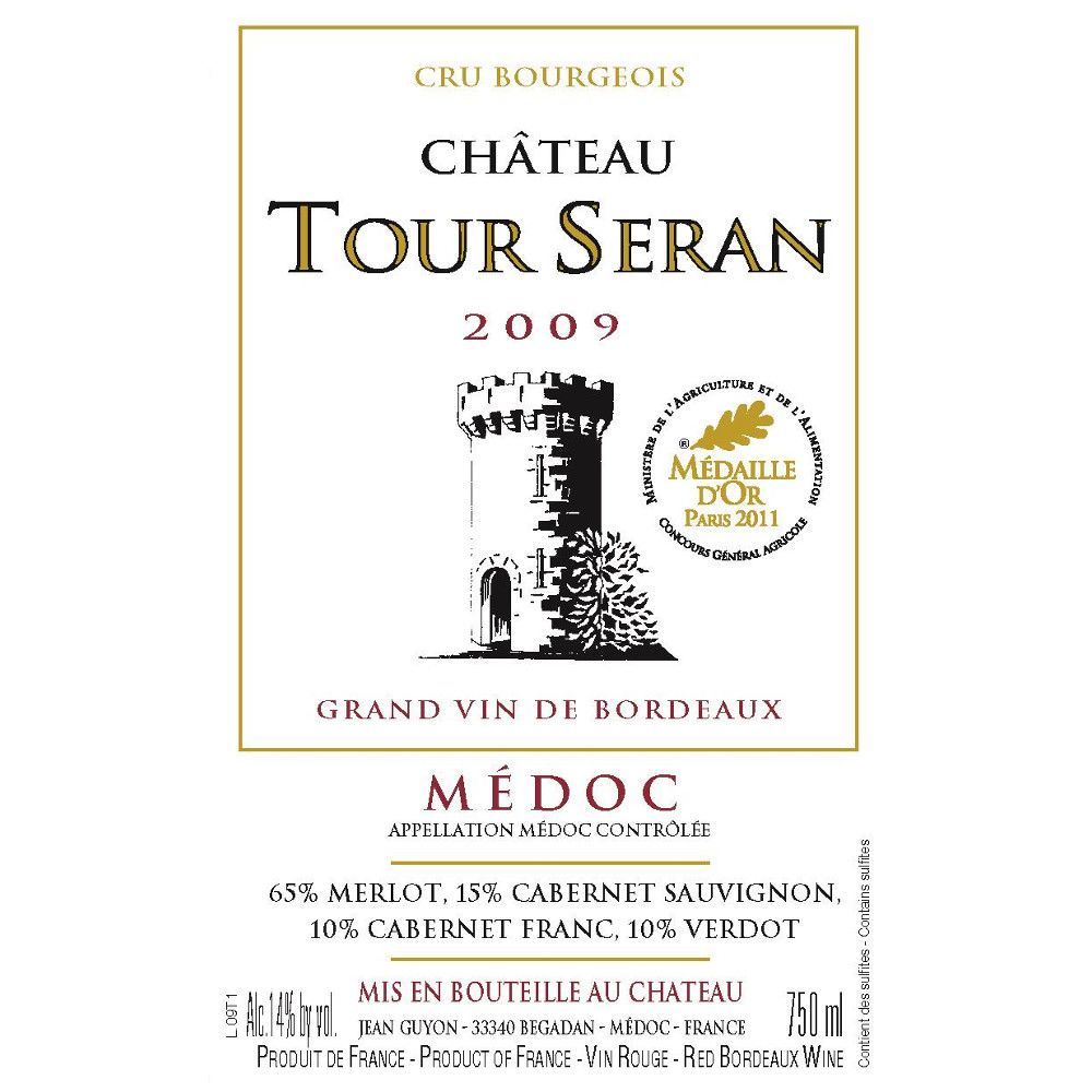 Chateau Tour Seran  2009 Front Label