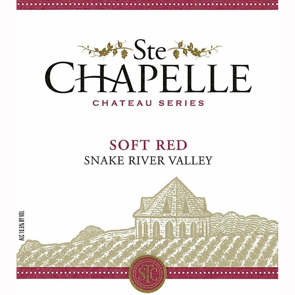 Ste. Chapelle Soft Red 2010 Front Label