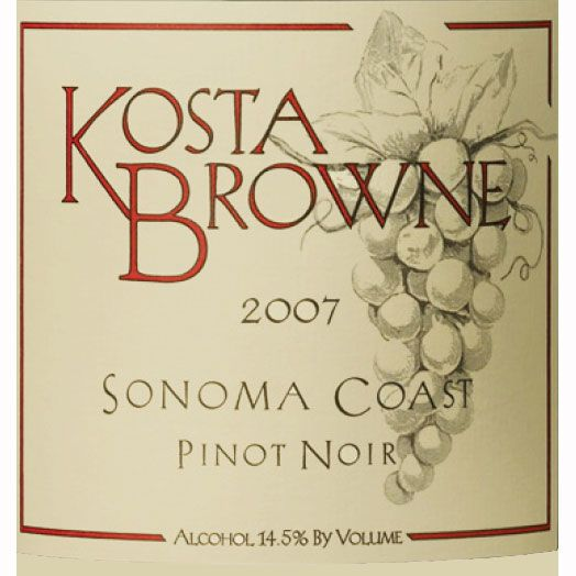 Kosta Browne Kanzler Vineyard Pinot Noir 2007 Front Label