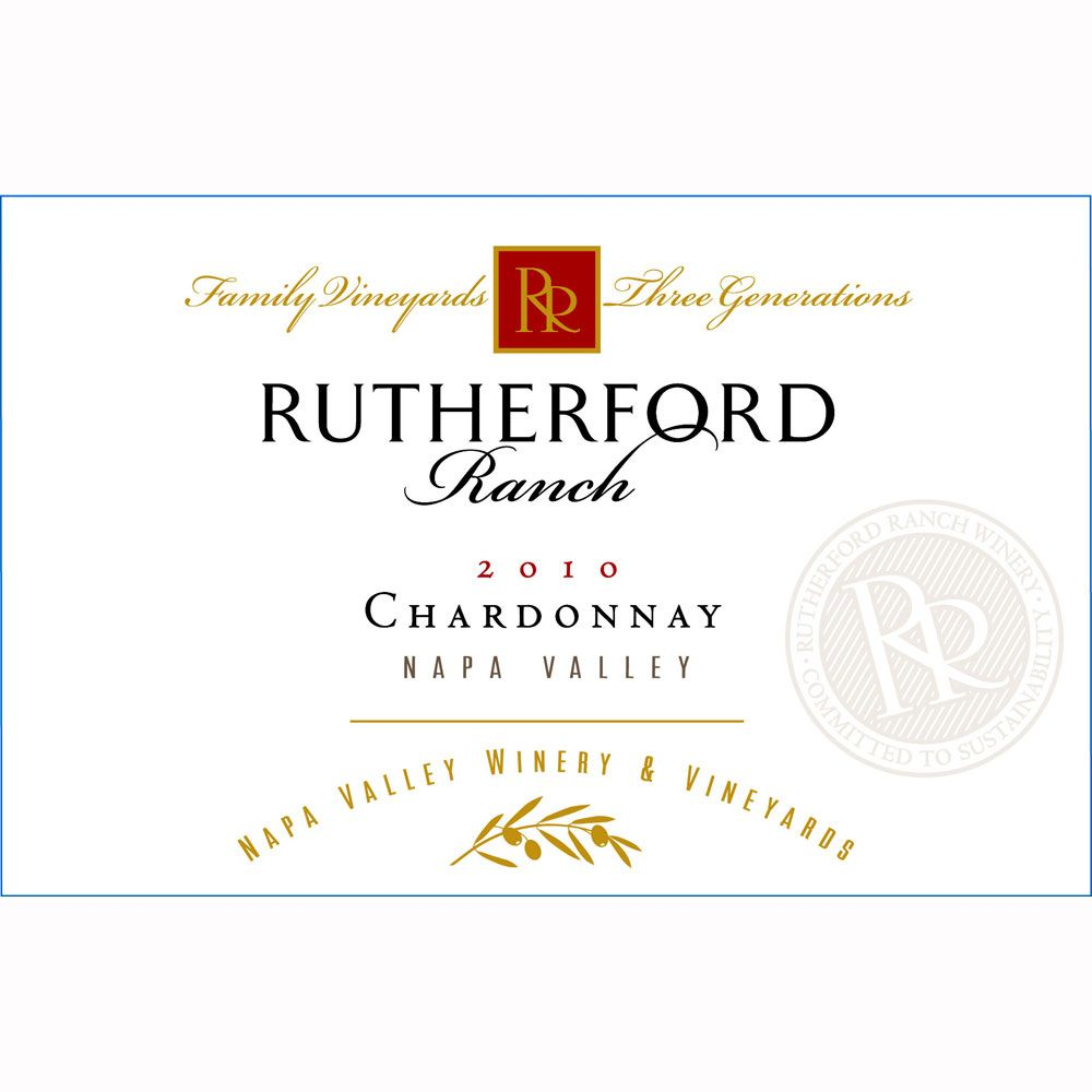 Rutherford Ranch Chardonnay 2010 Front Label