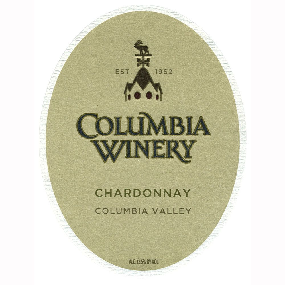Columbia Winery Chardonnay 2010 Front Label