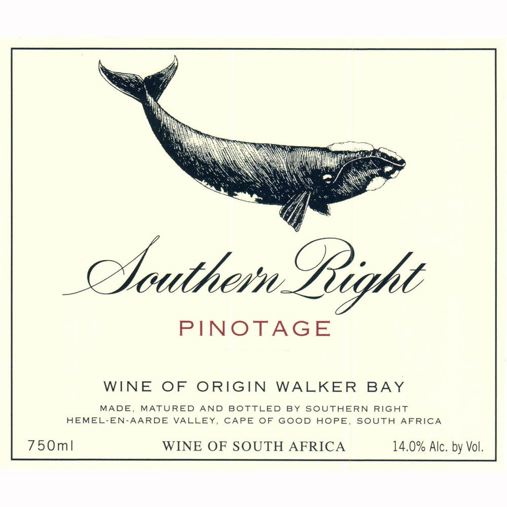 Southern Right Pinotage 2010 Front Label