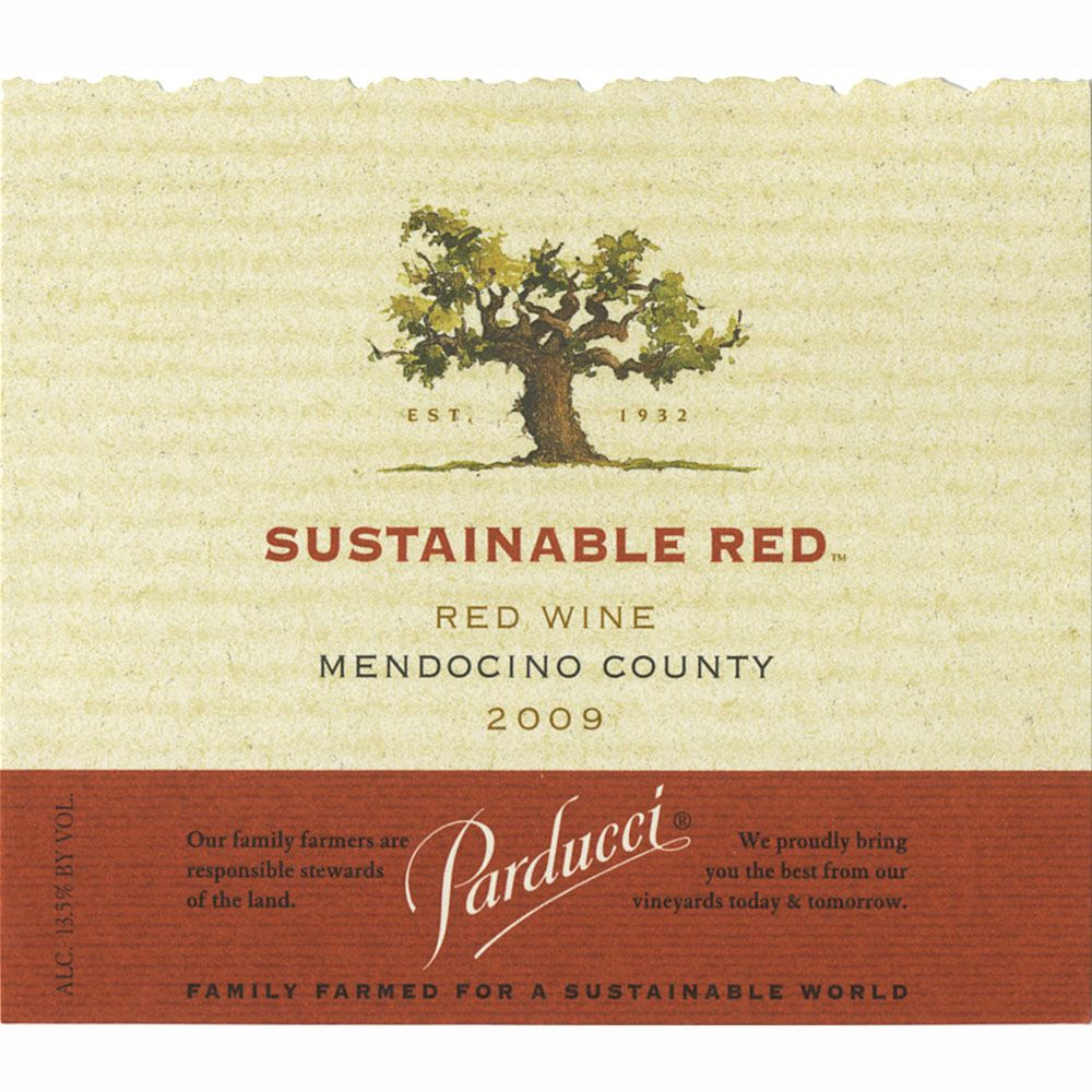 Parducci Sustainable Red Blend 2009 Front Label