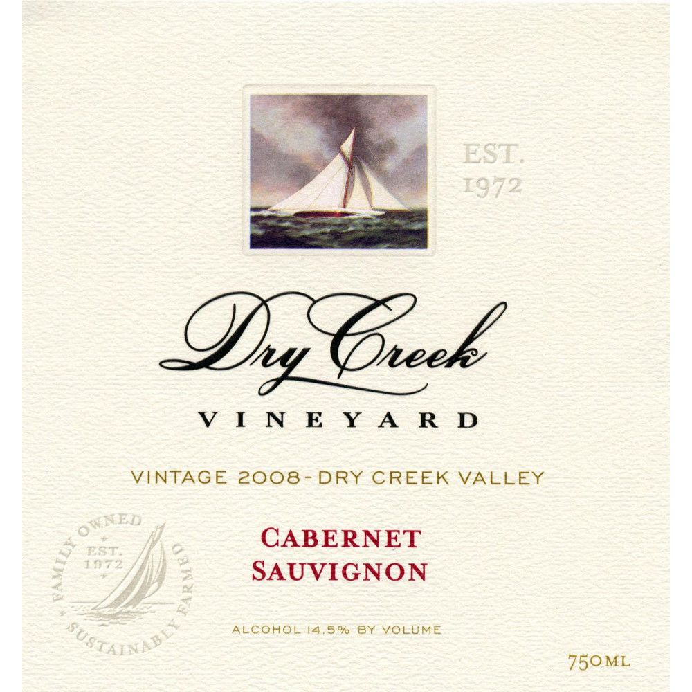 Dry Creek Vineyard Cabernet Sauvignon (1.5 Liter Magnum) 2008 Front Label