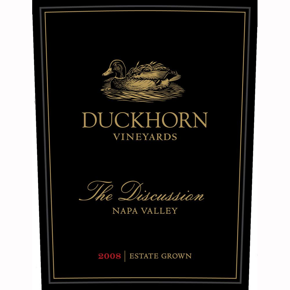 Duckhorn The Discussion 2008 Front Label