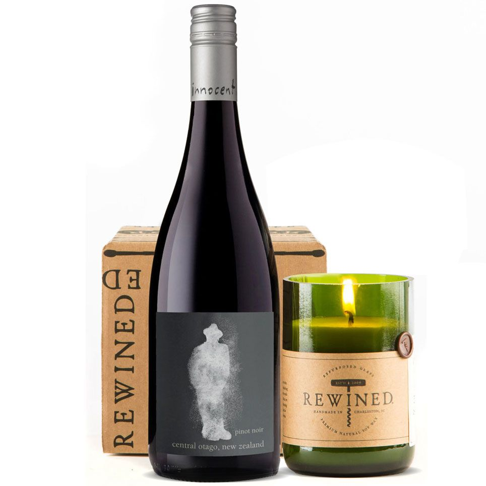 wine.com 90+ Point Pinot Noir & Rewined Candle Gift Set Gift Product Image